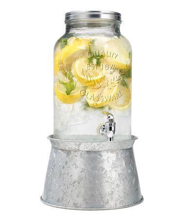 Another great find on #zulily! Galvanized Display Base Beverage Dispenser #zulilyfinds