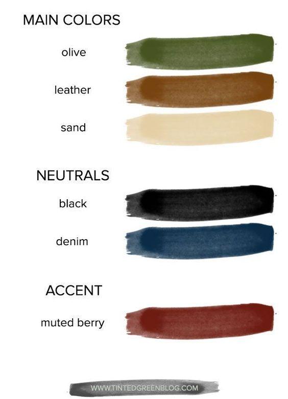 winter capsule wardrobe color scheme | tintedgreenblog.com