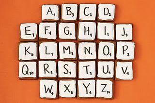 Scrabble party treats!