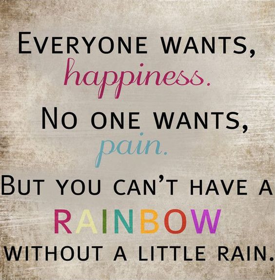 Everyone wants happiness. No one wants pain, but you can't ...
