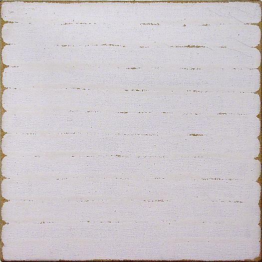 Robert Ryman, Untitled, 1965 Dutch Boy enamel paint on sized stretched linen canvas 10 x 10 in. 25.4 x 25.4 cm