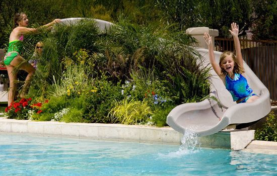 Build Your Own Slide Byos Cheap Pool Products Poollandscape Cheap Pool Swimming Pool Slides Pool Landscaping