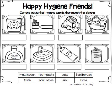 Printables Hygiene Worksheets For Elementary Students health and teaching on pinterest just wild about all hygiene pack