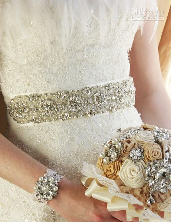 Wholesale Bridal Sashes & Belts - Buy Custom Made Pearls Crystal Stone Beaded Fashion Wedding Accessories Waistband for Bride Bridal Sash Wedding Dress Belts Sashes, $65.9 | DHgate