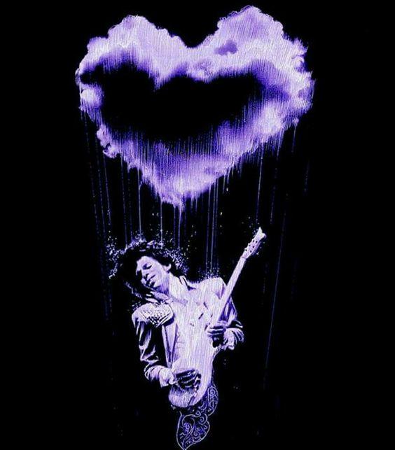 It's raining purple rain