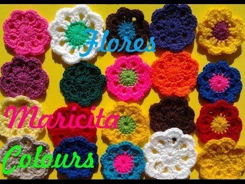 """Crochet Tutorial Flor básica """"Sienna"""" Flower Subtitles English & Deutsch - YouTube"""