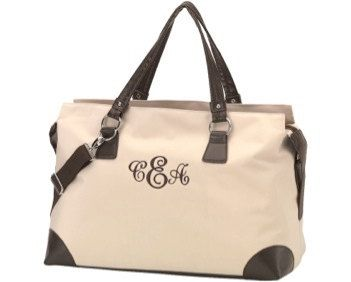 """Preppy Weekender Tote by makeitminecouture on Etsy, $30.00    """"Like"""" us on Facebook"""