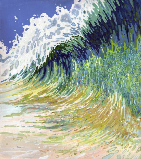 "Saatchi Art Artist Margaret Juul; Painting, ""Huge Crashing Wave"" #art"
