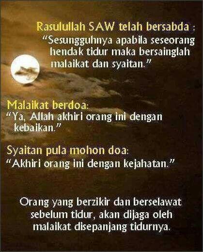 Kata Mutiara Tidur Malam Islami