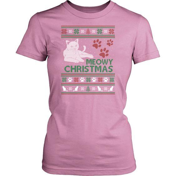 Meowy Christmas 2(District Womens Shirt)