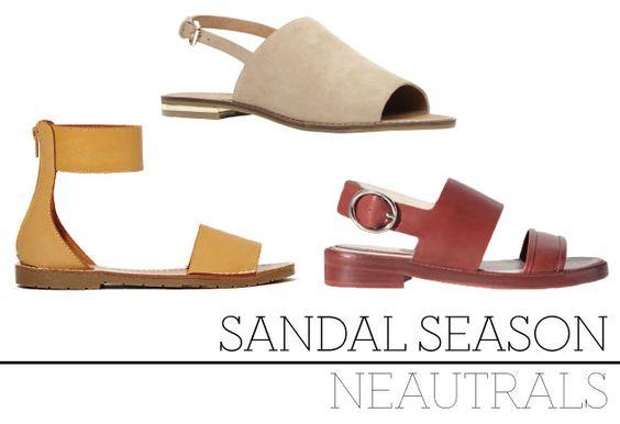 Avery Sandal, $53.26 CAD, Nasty Gal Cassica, $65 CAD, ALDO Flat Leather Sandal with Buckle,  $129 CAD, ZARA