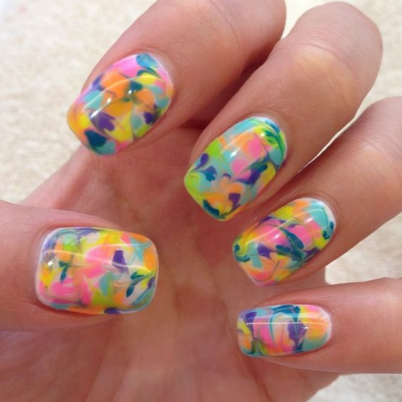 colorful nails for summer