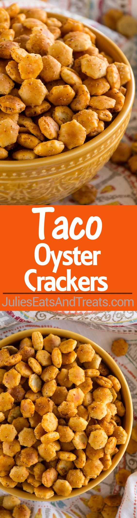 Taco Oyster Crackers Recipe ~ Quick, Easy Snack Mix Recipe that's ...