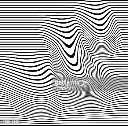 Vector Art : Pop Art Halftone Pattern of Wavy Lines