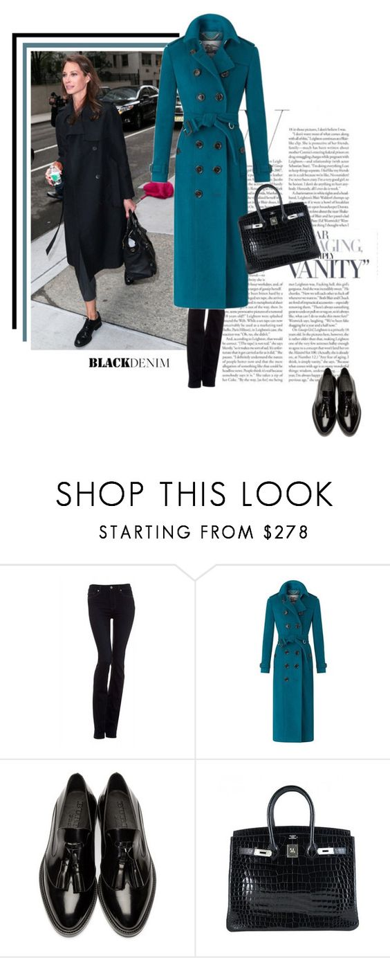"""""""Christy...."""" by theitalianglam ❤ liked on Polyvore featuring Paige Denim, Burberry, Hermès, women's clothing, women's fashion, women, female, woman, misses and juniors"""