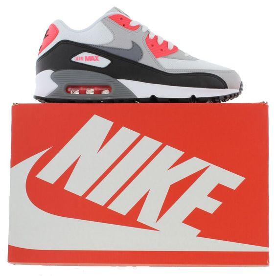 Nike - Air Max 90 Essential - White Cool Grey Black - Mens