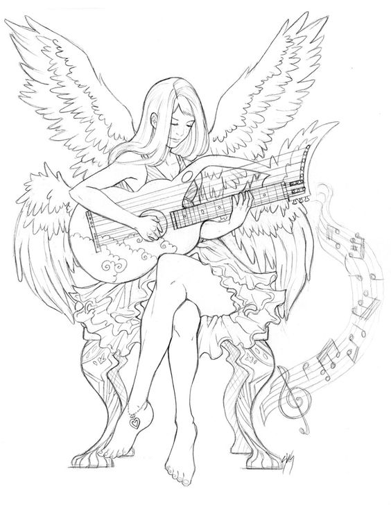 warrior angel coloring pages - photo#19
