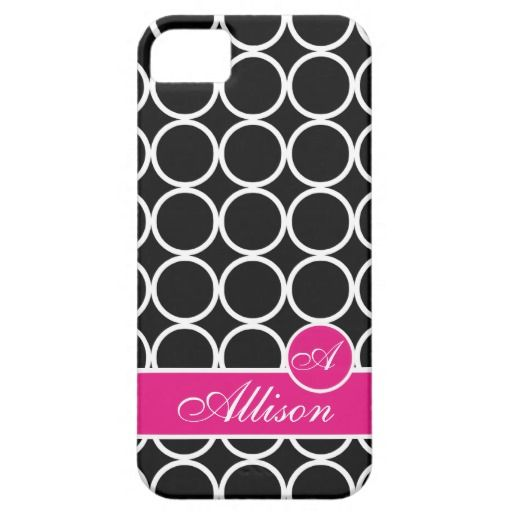 Licorice Monogrammed Lexi Print iPhone 5 Cover #monogram #customize #personalize #gift #iPhone5 #zazzle