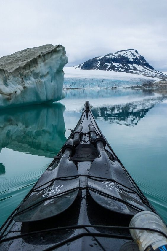 Kayaking through Norway with a GoPro #photography #adventure nice splits.