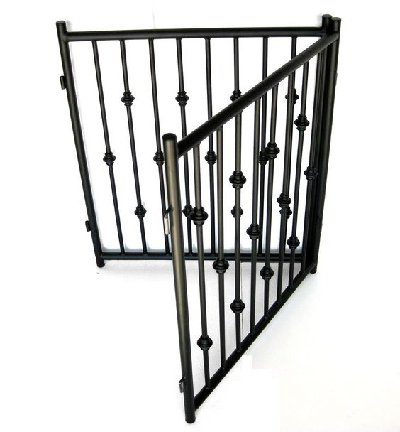 Wrought Iron Gates And Steel Barriers: Extra Wide Pressure Mount Pet Gate - White