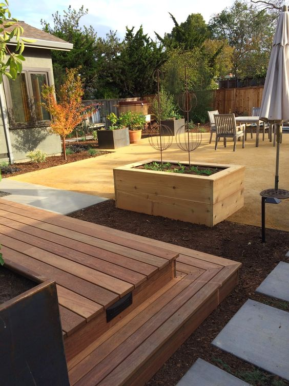 Modern outdoor space with DG patio
