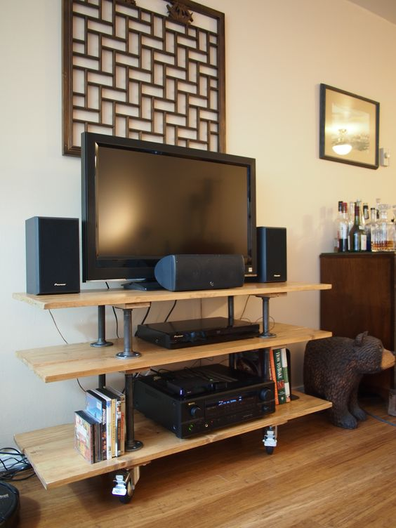 diy tv stand my very own design and construction. Black Bedroom Furniture Sets. Home Design Ideas