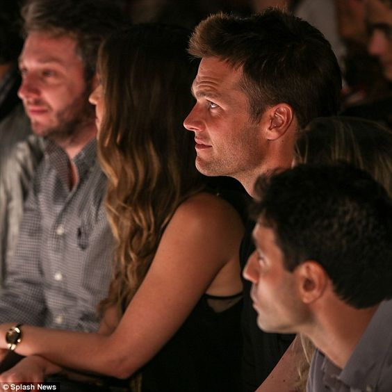 The look of love! Tom Brady stares adoringly at his wife Gisele