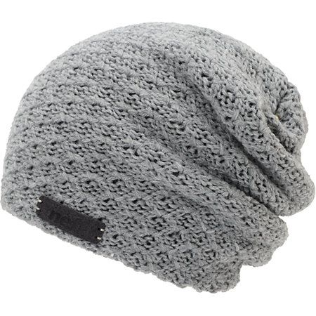 Hit the slopes with a new piece of warm head gear with the Neff girls Grams grey slouch beanie. Warm up to the textured knit double layer construction for warmth, grey colorway, Neff brand tag on the front, and a slouch fit for a more relaxed look.