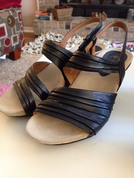 Earthies Comfort Sandals Women Size 9 Black #Earthies #AnkleStrap #ebay #comfort #sandals