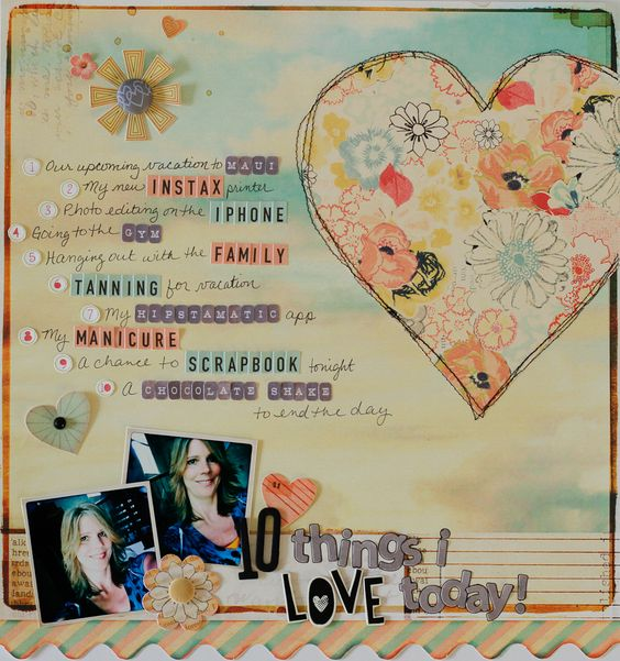 """Layout by DT member, Diane Payne, using the Scrapbook Circle """"You Are My Sunshine"""" kit"""