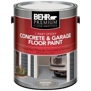 Behr Premium 1 Gal 901 Silver Gray 1 Part Epoxy Concrete