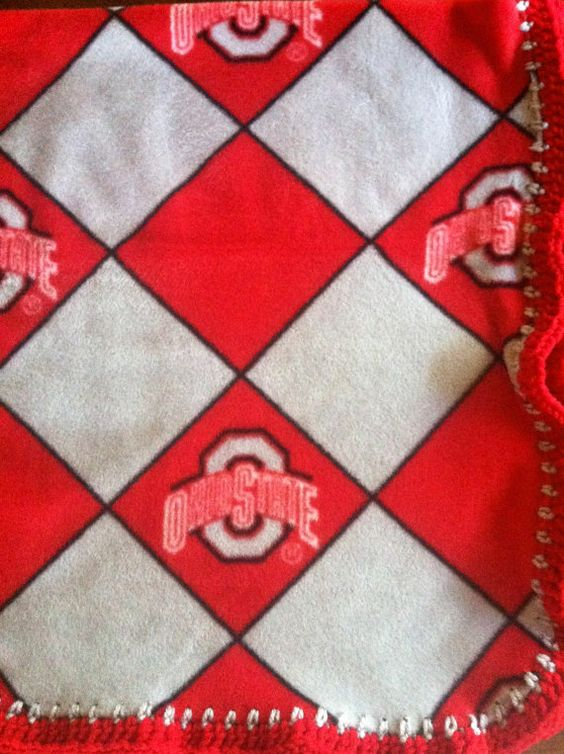 "Ohio State Buckeyes Argyle College Football Fleece by CozyKrafts, $20.95  So many teams to choose from for the little ""Fan"" in your life!"