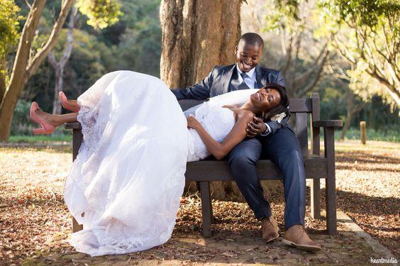 Husband and I garden wedding photo shoot