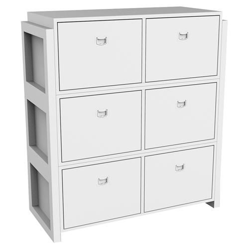 Ducduc Campaign Ii Modern White Stacking Dresser Modern Dresser Creative Lighting