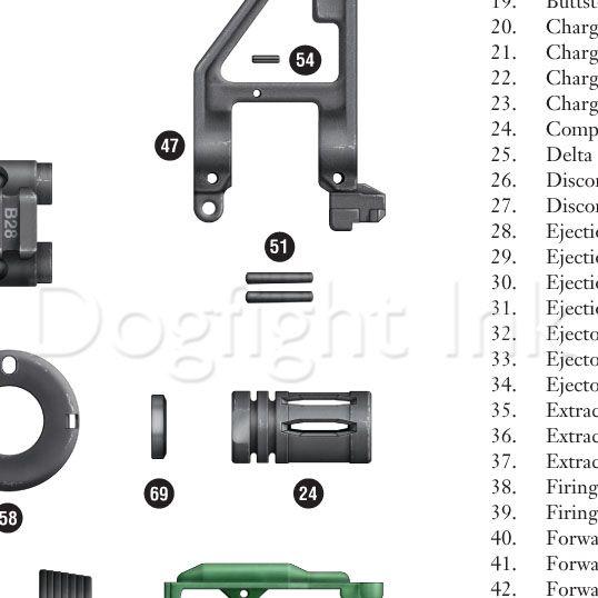AR-15 Exploded Parts Diagram