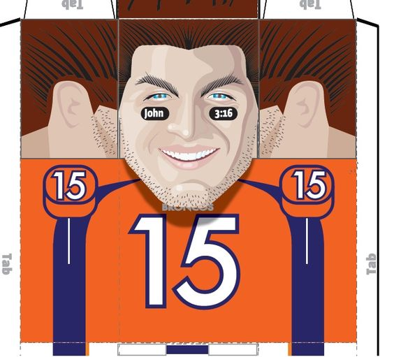 Tim Tebow caricature