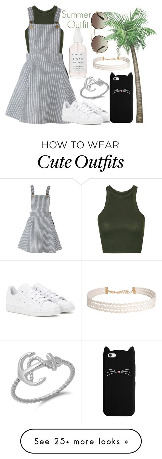 """""""Summr Outfit"""" by elinajuslin on Polyvore featuring Prada, Topshop, adidas and Humble Chic"""