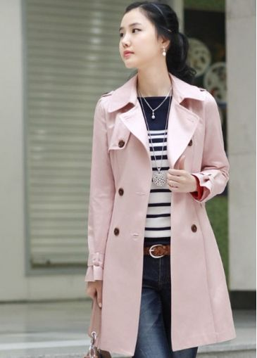 Pink Trench Coat (petite friendly) | My Style | Pinterest | Coats