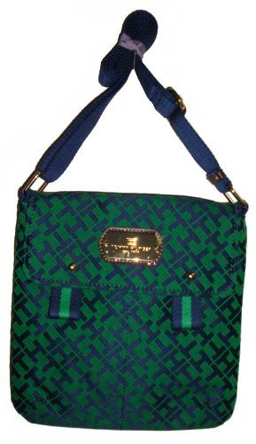 Women's/Girl's Tommy Hilfiger Xbody Handbag (Navy/Green « Clothing Impulse