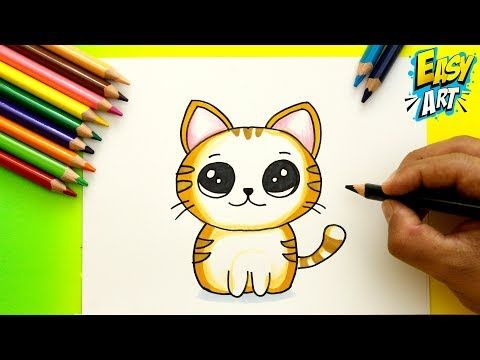 Como Dibujar Un Gato Estilo Cute How To Draw Cat Dibujos Kawai