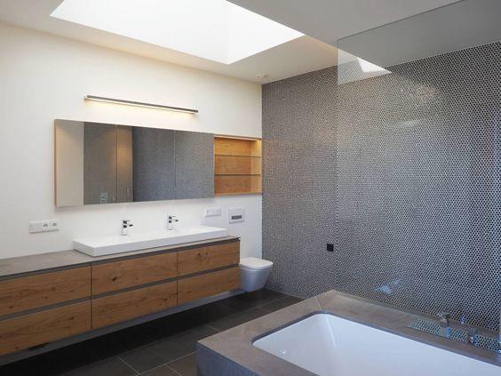 Elternbad : Moderne Badezimmer von Fichtner Gruber Architekten