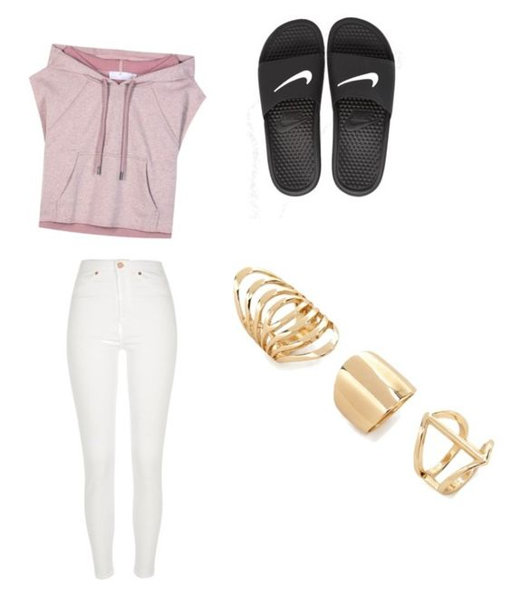 """""""Untitled #12"""" by reacoleman ❤ liked on Polyvore featuring adidas, River Island, NIKE and Forever 21"""
