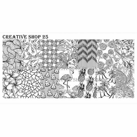 Creative Shop- Stamping Plate- 25