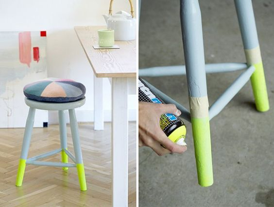 12 Bright Ways to Give Your Bar Stools a Serious Upgrade via Brit + Co.