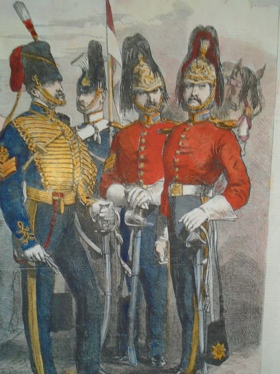 WAR IN THE CRIMEA British Cavalry Regiments - Hand coloured engraving.. | eBay
