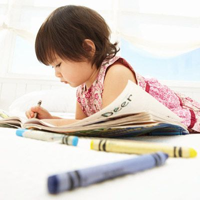 Supplying a sick child with a steady stream of crayons, stickers, washable markers, and paper can help him recuperate faster by keeping him quiet for a relatively long time.