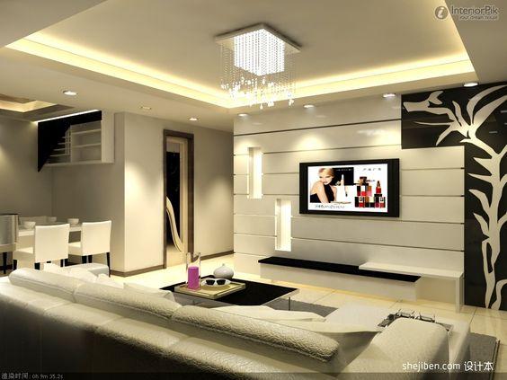 modern tv walls google search decorations - Model Dedecoration Desalon Moderne