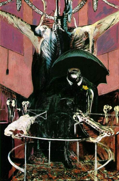 Francis Bacon (1919-1992)    PAINTING, 1946. Oil and tempera on canvas, 198 x 132 cm. The Museum of Modern Art, New York, USA.