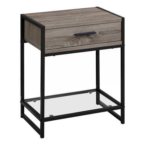 Hawthorne Ave Dark Taupe And Black 12 Inch Accent Table In 2020 End Tables Metal Accent Table End Tables With Storage
