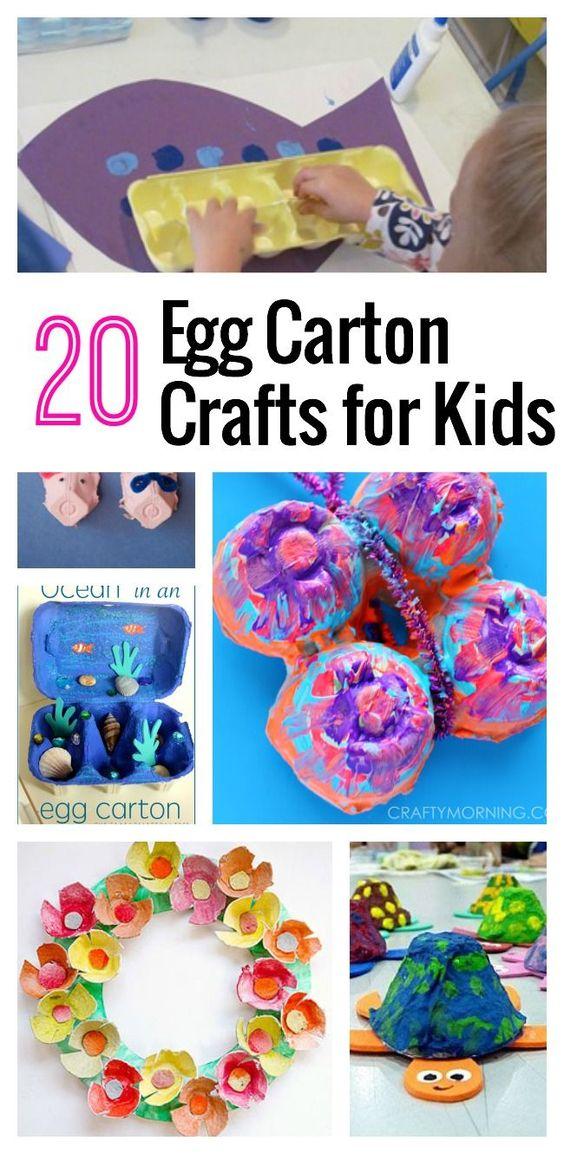 20 egg carton crafts for kids crafts crafts for kids for Plastic egg carton crafts